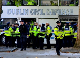 Massive Garda Presence outside the Dáil