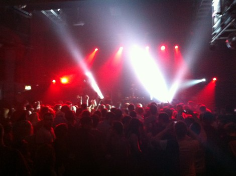 The sizeable crowd at the Button factory