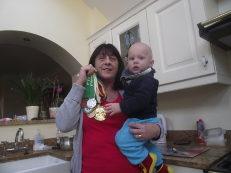 Anne with grandson Daly in her home in Baldoyle, north Dublin