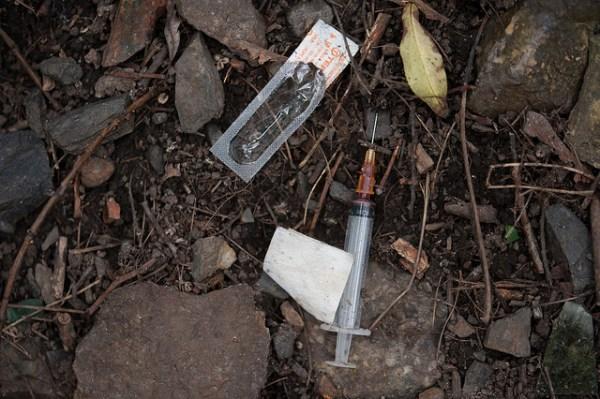 Heroin syringe
