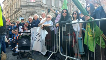 Demonstrators at the rally, image by Hannah Lemass