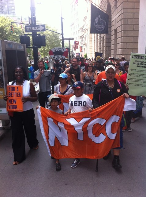 NYC youth take front lines of the march