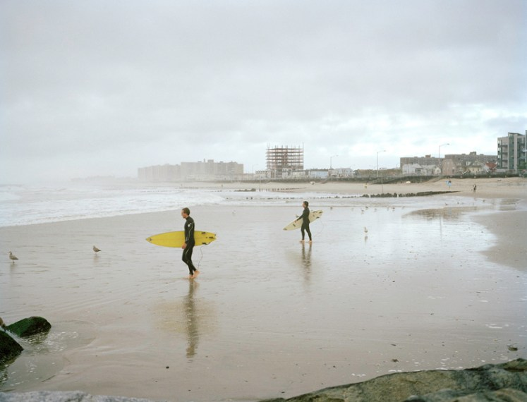 Surfing = challenging, low carbon fun, especially if you take the subway to the beach. (Photo: Maureen Drennan)