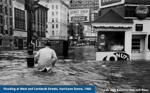 The climate analysis in SIRR points out that NYC has flooded in the past. (Photo NYT)