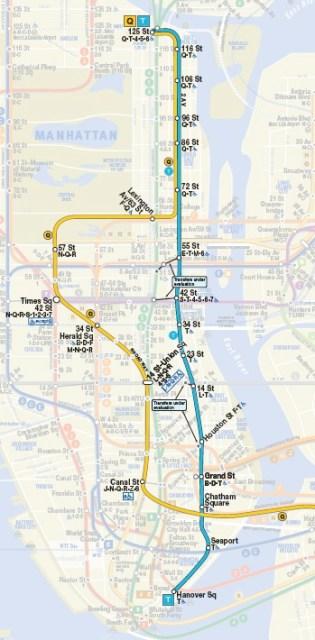 T Train map