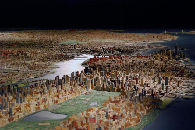 The Panorama of the City of New York, a model built by Robert Moses for the 1964 New York World's Fair; at the Queens Museum (Photo: Queens Museum)