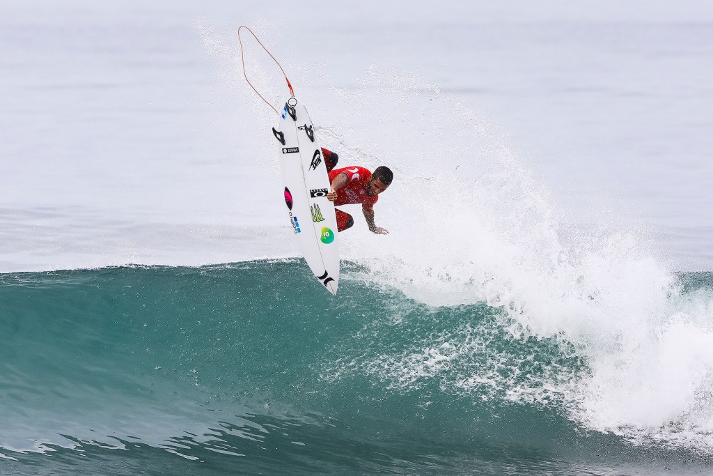Filipe Toledo of Brazil advances to the Semifinals of the 2017 Hurley Pro Trestles after defeating Kanoa Igarashi of the USA in Quarterfinal Heat 4 at Trestles, CA, USA.