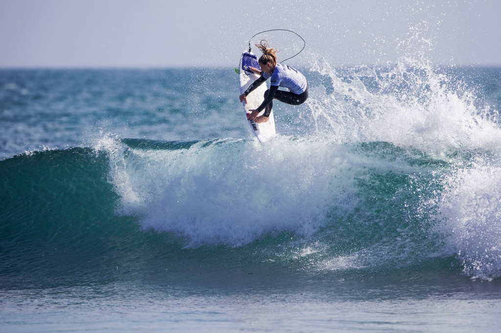 Lakey Peterson of USA surfing during Heat 2 Round Three of Swatch Pro at Lower Trestles in San Clemente, CA, USA