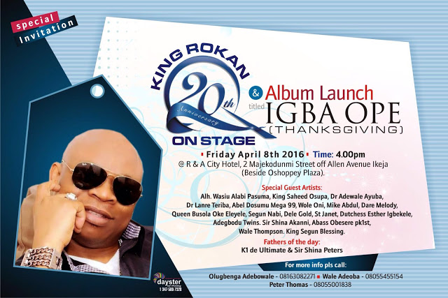 King Rokan Celebrates 20 Years On Stage With Touch Of Class