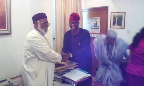 PDP Chairmanship Race: Gbenga Daniel Leads Other Aspirant, Pays Courtesy Visit To Abdulsalam Abubakar