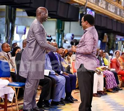 TB Joshua Reacts On Liberia Election As George Weah Visits Church In Lagos