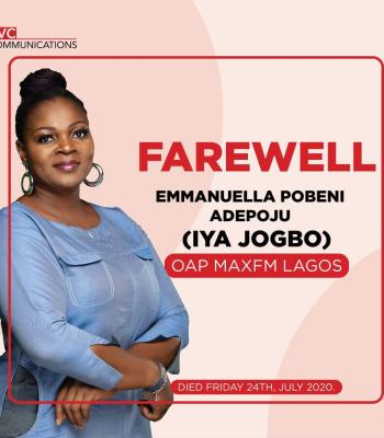 "Just-In: SAD! TVC Announces Demise of Emmanuella Pobeni Adepoju ""Iya Jogbo"""