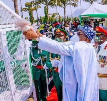 Armed Forces Remembrance Day: Aisha Reacts As Buhari Pigeons Refuse To Fly