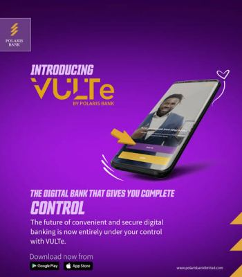 Polaris Bank To Leverage On Digital Platform ' VULTe ' For Optimum Services