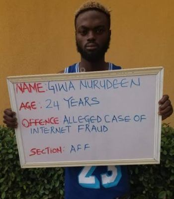 Giwa Nurudeen Final-year Student To Spend 3 Years In Prison For N35m Internet Fraud {Photo}