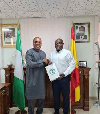 Demola Seriki Lagos Speaker Obasa Meets Nigeria's Ambassador To Spain (Photo)