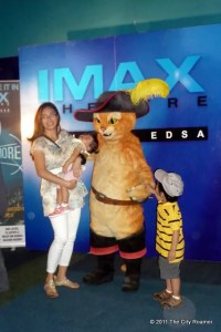 Puss in Boots made a special appearance at the premiere