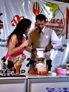 Flair Bartender Mr. Jean Paul Ceron on Hurom Slow Juicer