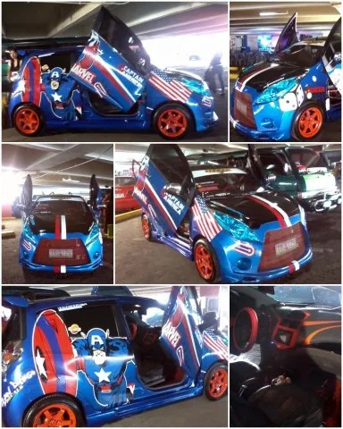 Marvel-Inspired Chevy at SM City Sta Mesa Cyberzone CarCrazee Event