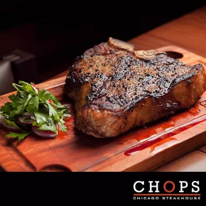 Chops Chicago Steakhouse USDA Prime Black Angus Dry Aged