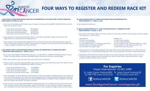 Run Against Cancer Registration Mechanics