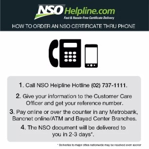 NSOHelpline.com Call 737-1111 for Certificate Delivery