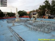 Dancing Fountain in the works - Plaza Salcedo - Downtown Vigan