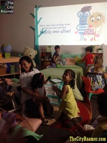 Ms Nanette Santos Telling the Story of Juju, Looloo and Wuwu