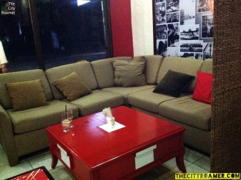 A Couch at Ginger's Cafe Bistro