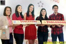 Event Hosts Patti Grandridge and Ramon Bautista with Tobleron Executives at Tobleron Especially For You Media Launch