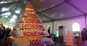 Giant Christmas Tree of Toblerone