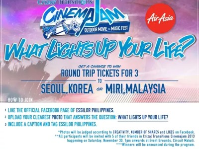 What Lights Up Your Life - Essilor Philippines Facebook Contest
