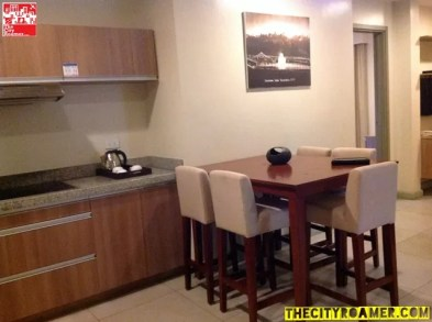 Kitchen and Dining Area of the Family Suite of Azalea Residences Baguio