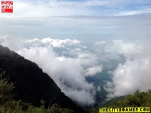 the clouds atop Mount Cabuyao