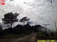 Ongoing road construction at Mount Cabuyao