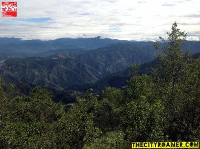 Overlooking the mountains at the peak of Mount Cabuyao