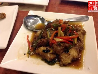 Fish Fillet in Black Bean Sauce as part of Max's 4Sharing Meal