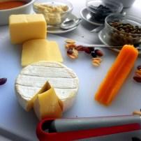 Cheeses served at Aquaria Beach Resort