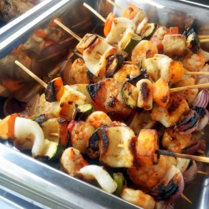 Seafood Kebab at Aquaria Beach Resort