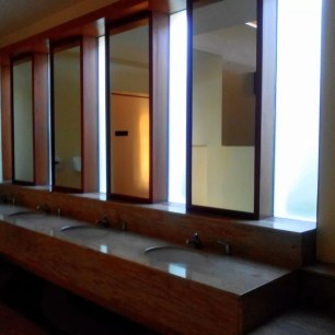 mirrors at Aquaria Beach Resort bath house