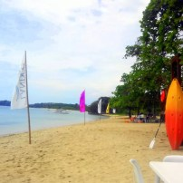the beach at Aquaria Beach Resort