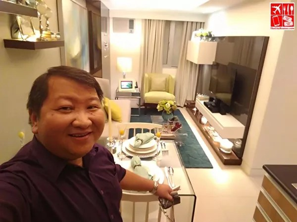 Alwin Aguirre inside the 3-bedroom unit of Avida Towers Turf BGC