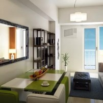 Avida Towers Turf BGC 3BR Unit Living and Dining Area
