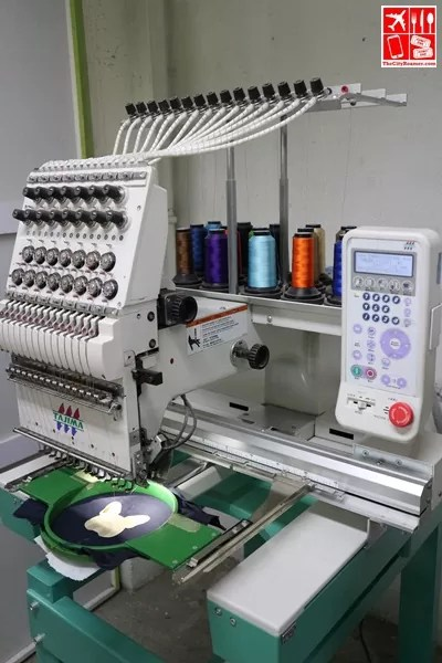 High Tech embroidery machine at CustomThread
