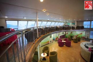 A view of the lobby below and the mezzanine of 2Go Travel's M/V Saint Ignatius of Loyola