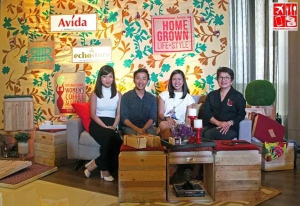 "L-R: Kriselle Villanueva (Avida Associate Marketing Manager), Matt Pardinas (Rags2Riches Sales and Marketing Manager), Anne Baylon-Jara (Avida Marketing Manager), Pacita ""Chit"" Juan (Echostore Founder and President, International Women's Coffee Alliance Philippine Chapter President)"