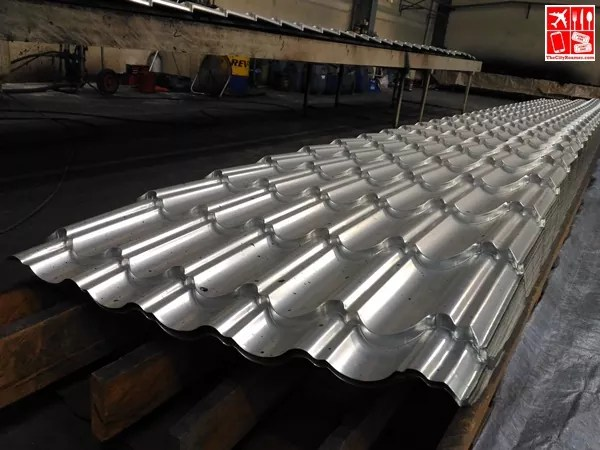 Molded Metal Sheet ready for stone coating at Metalink Plant