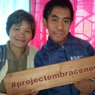 A mother with her son at the Sagada SPED Center