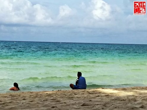 The guy must be enjoying the view of Boracay