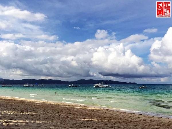 The sky, sea and white sand of Boracay